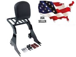 Gloss Black Harley Sportster Quick Release Sissy Bar With Rear Carrier And Docking