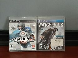 Ps3 Two Game Bundle Video Game Playstation Watchdogs Madden
