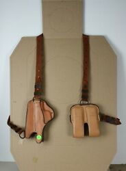 Bianchi 16h/l Left Hand Shoulder Holster W/ 2 Mag Pouches For Sig P228