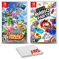 Pokemon Snap And Super Mario Party - Two Game Bundle For Nintendo Switch