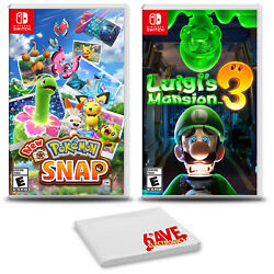 Pokemon Snap And Luigiand039s Mansion 3 - Two Game Bundle For Nintendo Switch
