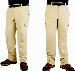 Nwt Allforth Men's Size 40x32 Roll And Snap Cargo Pants Classic Fit Twill Khaki