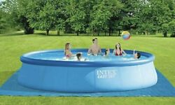 New Intex 18ft X 48in Easy Set Pool With Pump Ladder Cover And Filter