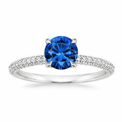 Real 1.70 Ct Gemstone Diamond Ring 14k White Gold Band Christmas Sale All Sizes_