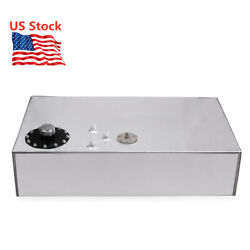 Us 18 Gallon Silver Race Fuel Cell Gas Tank+cap And Level Sender Polished Aluminum