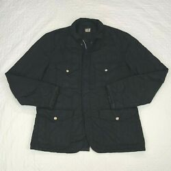 C.p. Company Quilted Full Zip Field Jacket Mens Size 54 Made In Italy 4 Pocket
