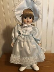 Vintage Gorham Musical Porcelain Doll 1984 Beverly Petticoats And Lace
