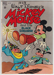 Dell Four Color 248 Very Good Plus 4.5 Mickey Mouse And The Black Sorcerer 1949