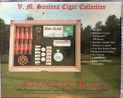 V.m. Santana Cigar Collection Special Edition Golf Package - Top Flite - Sealed