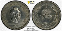 1883 Russia Empire Rouble Silver Alexander Iii Coronation Pcgs Xf-detail Cleaned