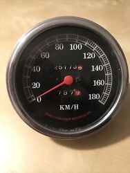 1984-1996 Harley Davidson Softail Oem Mechanical Speedometer Fl / Fx In Km/h