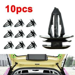 For Mg Zs Mg3 Rear Trunk Lid Cover Parcel Rack Shelf Clamp Retainer Buckle Black