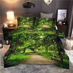 The Trees Are Full Of Branches 3d Quilt Duvet Doona Cover Set Pillow Case Print