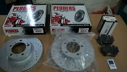 Pedders Porsche Boxster 996 986 987 Front Brake Disc And Pad Set