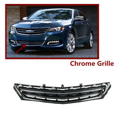 Front Bumper Lower Grille Chrome Black Grill Fit For Chevrolet Impala 2014-2020