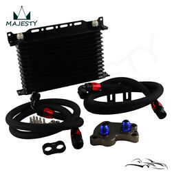 13 Row Oil Cooler An10 W/bracket+adapter Kit For Bmw Mini Cooper S R53 2002-2006