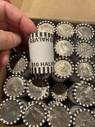 1 Half Dollar Bank Roll 10 Face Value 20 Coins/roll Circulated Mixed Dates