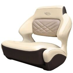 Chaparral Boat Helm Seat 31.00759   307 Ssx Wide Bolster Cream Brown