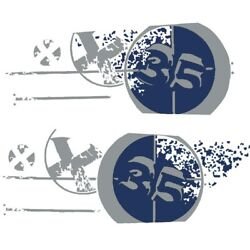 Mastercraft Boat Graphic Decal 758065 | X35 Navy Blue Set Of 2