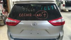 2011-2014 Toyota Sienna Trunk/hatch/tailgate Le W/back Up Camera Tan 2558911