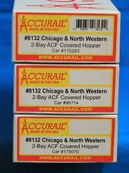 Ho Scale - Accurail 8132 Chicago And North Western 2-bay Acf Hoppers 3-pack - Kit