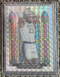 2019-20 Panini Mosaic Stained Glass Prizm 3 Lebron James Los Angeles Lakers