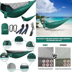 Tolaccea Camping Hammock Hammock With Mosquito Net Parachute Material Ligh