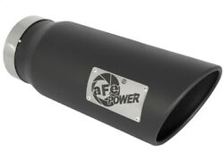 Afe Power Mach Force-xp 5in In X 6in Out X 15in L Bolt-on 409 Ss Exhaust Tip -