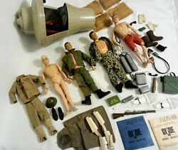 Vintage 1964 Gi Joe Lot With Accessories Very Nice Sold As Is