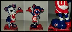 Chicago Cubs Mickey Mouse Figurine Logo All Star Game Asg 2010 Disney Statue Mlb