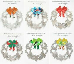 Wreath Christmas Ornament Handmade With Recycled Aluminum Cans You Choose