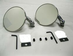 Ford Chevy Chrysler Dodge Plymouth 4 Curved Arm Peep Mirrors Hot Rat Street Rod