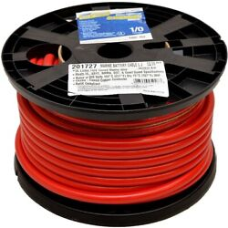 Smart Boat Marine Grade Battery Cable   1/0 Awg Red 100 Ft Tinned