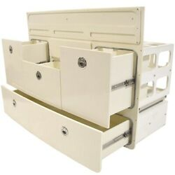 Scout Boat Tackle Station   Off White 4 Drawer Storage
