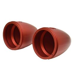 Mastercraft Boat Tower Speaker Cans 404824rd   7 3/8 Inch Red Pair