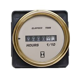 Faria Boat Hour Meter Gauge Mh0112a | 2 Inch Gold Beige