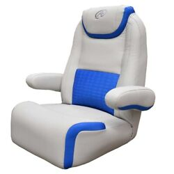 Avalon Boat Captains Helm Seat 21178-14   Wide Reclining Gray Blue