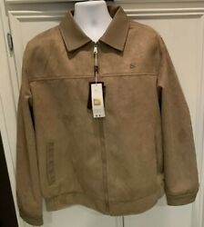 Bv Clothing Mens Xxxl 3xl Jacket Coat Tan Brown Suede Leather Zipper Lined