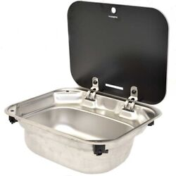 Dometic Boat Sink 9102302346   Va8005 W/ Drain 16 X 14 Inch Stainless