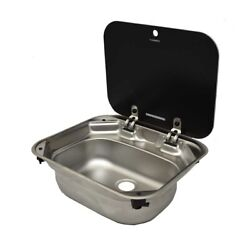 Dometic Boat Sink 9102302346   Va8005 W/ Drain Plug Elbow Stainless