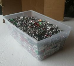 5 Qts Of Aluminum Pop Tops, Pop Tabs Pull Tabs 10's Of 1,000's... Lbs Worth Here