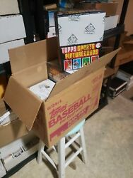6 1984 Topps Baseball Rack Boxes 24 Packs Bbce Wrapped From A Sealed Case