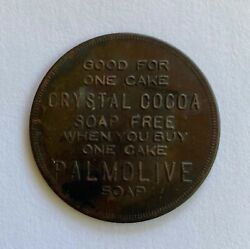 Vintage Token Good For One Cake Crystal Cocoa Soap Palmolive P-1012