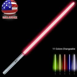 ☀ 3-mode Sound Power Fx Duel 11-color Transformable Metal Lightsaber Rgb Usa.