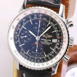 Breitling Navitimer Heritage A13324 Automatic Black Silver Ss Leather Menand039s 191