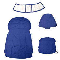 Chaparral Boat Curtain Cover 10.03461   307 Ssx Blue Clear 4 Pc Kit