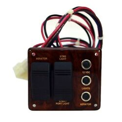 Suntracker Pontoon Boat Woodgrain Switch Panel W/switches And Breakers