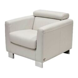 Carver Boat Sofa Lounge Chair 8725021   Off White