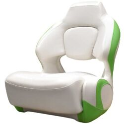 Chaparral Boat Helm Seat 31.00593 | H2o Bolster White Lime Green