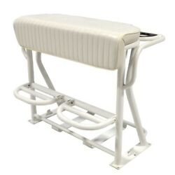 Blue Wave Boat Leaning Post Seat   36 Inch Pleated White Aluminum